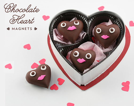 Chocolate Heart Magnets